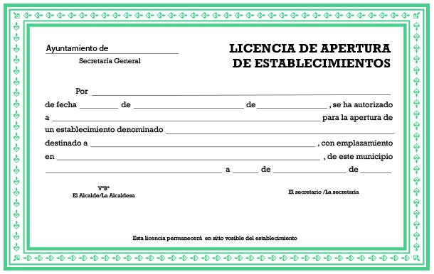 Licencia de Apertura o Licencia de Actividad